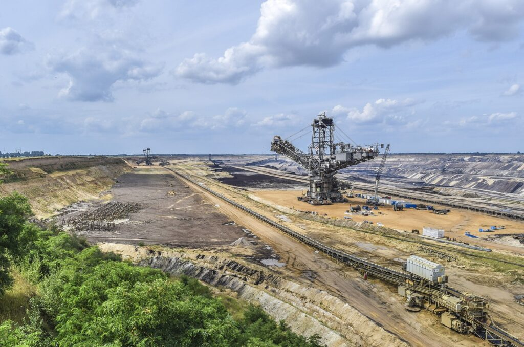landscape, open pit mining, mining